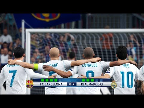 Barcelona All Stars vs Real Madrid All Stars I El Clasico I PES 2018 Penalty Shootout
