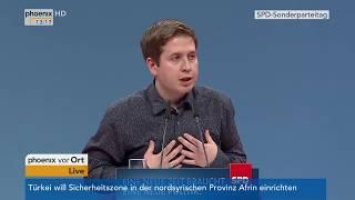 SPD-Bundesparteitag: Rede von Kevin Kühnert am 21.01.2018