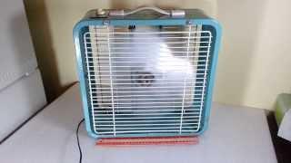"Vintage ESKIMO 3-Speed 14"" Box Fan McGraw-Edison Co."