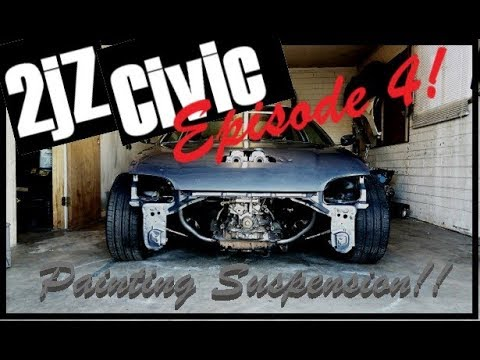 Painting the 2jz Civic Suspension