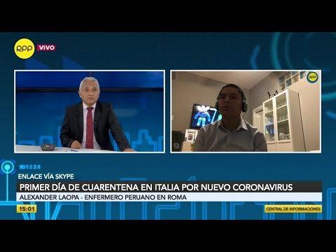 Un Toque De Queda Enfermero Peruano Narra La Situacion Actual En Italia Youtube
