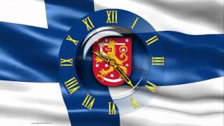 Screensaver - animated flag of Finland, with the clock - CLOCK FLAG FINLAND