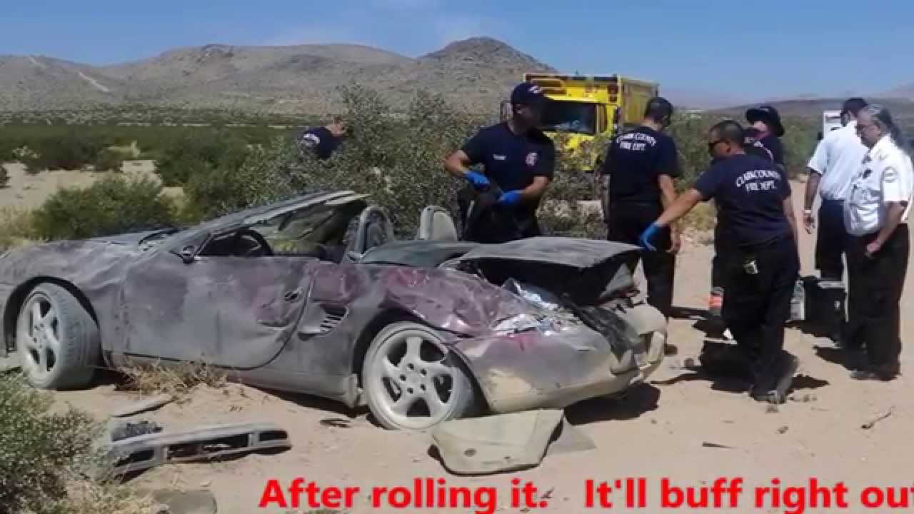 Porsche Las Vegas >> Crazy Driver Races Destroys His Porsche Las Vegas Youtube