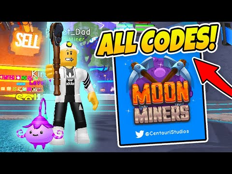 ALL CODES MOON MINERS - UNDER MAP GLITCH! (Roblox)