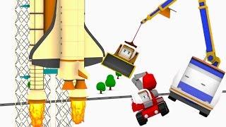 Super Szybki Pociąg Reaktor : Ucz się kształtów i kolorów z Małymi Samochodzikiami: buldożer, dźwig