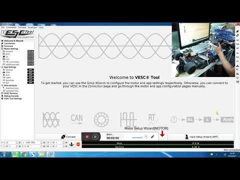 Dual FSESC 6 6 base on VESC6 Programming by VESC Tool Tutorial