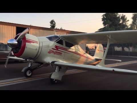 """Beechcraft Model D17S """"Staggerwing"""" QUEENIE - Engine Start"""