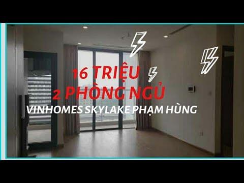 Cho Thuê Căn Hộ Giá Rẻ Tầng 7 Tòa S3 Chung Cư Vinhomes Skylake Phạm Hùng 2 Phòng Ngủ, Đồ Cơ Bản
