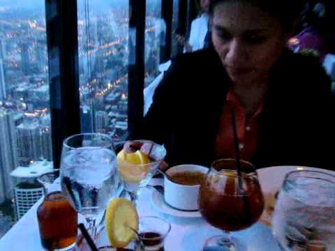 Eating at Signature Restaurant Hancock Tower Chicago