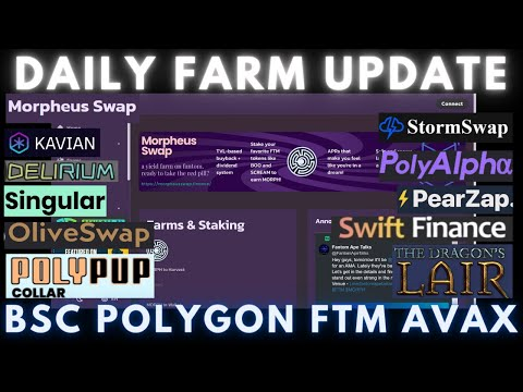 Daily Degen Farm Update   BSC - FTM - AVAX - POLYGON   New Farms and Info