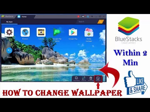 How To Change Wallpaper in BlueStacks 3 {Easy Method} !! English Subs