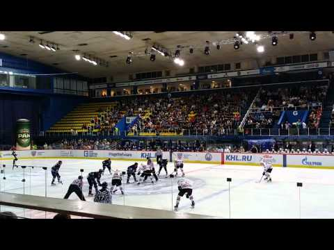 KHL: Medvescak - Amur, 26.08.2015, before the first puck of the season dropped