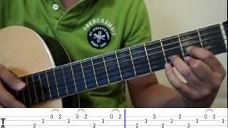 Como tocar Hoy ten miedo de mi (tutorial) intro parte 1