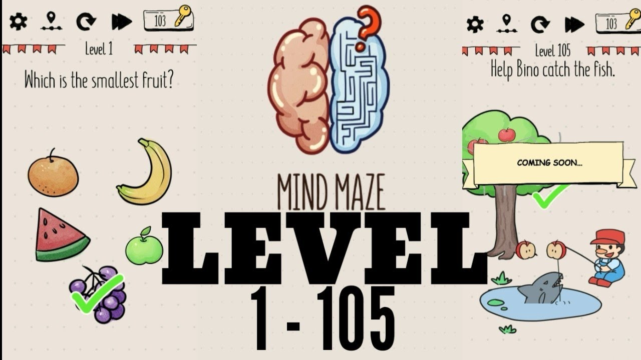 Mind Maze Brain Inside Out Level 1 105 Jawaban Walkthrough Solution Android Offline Youtube