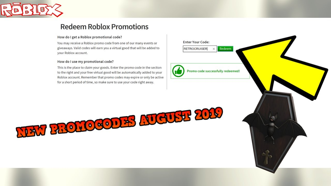 All New Roblox Promocodes August 2019 New Codes Roblox
