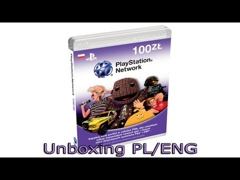 PlayStation Network Karta/Card 100zł - Unboxing PL/ENG