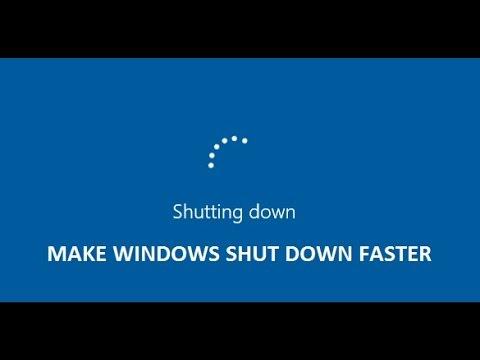 How To Make Windows Shut Down Faster