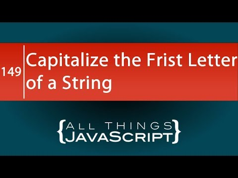 JavaScript Problem: Capitalize the First Letter of Multiple Strings thumbnail