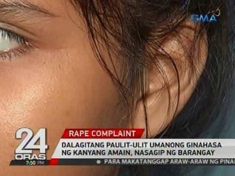 Dalagitang paulit-ulit umanong ginahasa ng kanyang amain, sinagip ng barangay