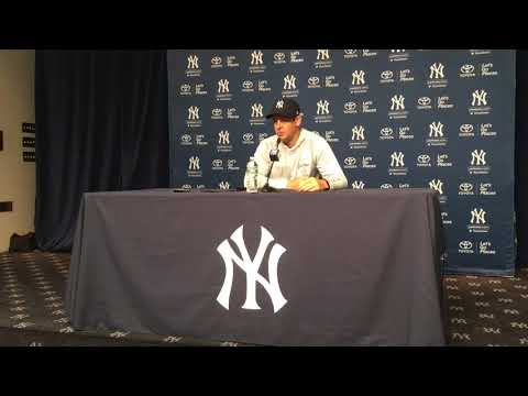 Yankees' Aaron Boone gives Gleyber Torres scouting report