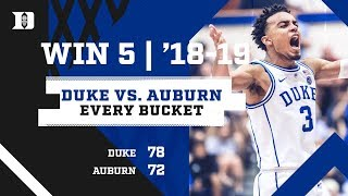 #1 Duke 78, #8 Auburn 72 | Every Bucket (11/20/18)