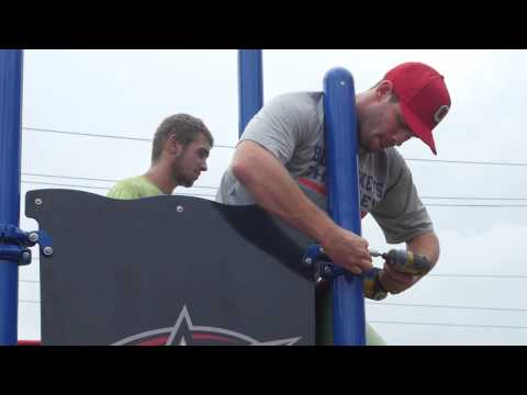 Blue Jackets Foundation Playground Build - YouTube