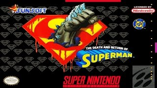 Game | The Death and Return of Superman SNES | The Death and Return of Superman SNES
