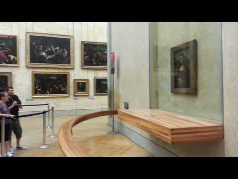 Mona Lisa seen in The Louvre (Musée du Louvre) in Paris