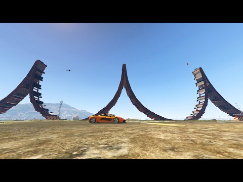 3 BIGGEST RAMPS EVER! (GTA 5 Funny Moments)