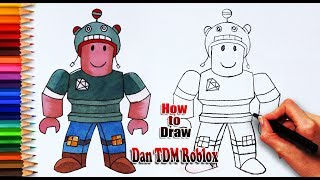 How to draw Dan TDM Roblox | Roblox drawing | Easy drawing for kids