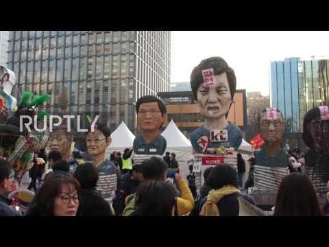 South Korea: 200,000 continue to celebrate Park's impeachment in Seoul