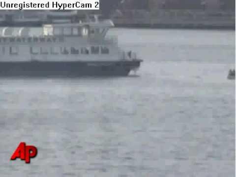 Amazing video of NY plane's crash landing on Hudson