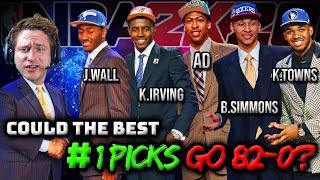 Can The Last 10 #1 NBA Draft Picks Go 82-0? | NBA 2K20 Rebuild