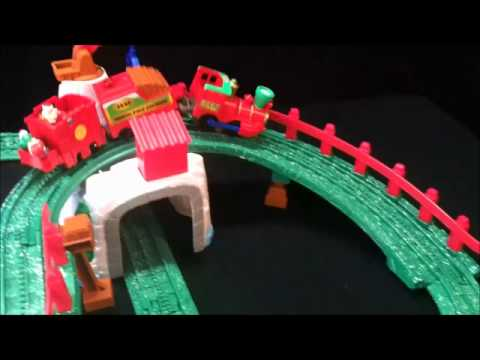 Fisher Price Geo Trax Remote Control Christmas Train Set - YouTube