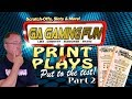 $30 Worth of GA Lottery Print n Plays Part 2: Slots Of Fun & Money Bucks