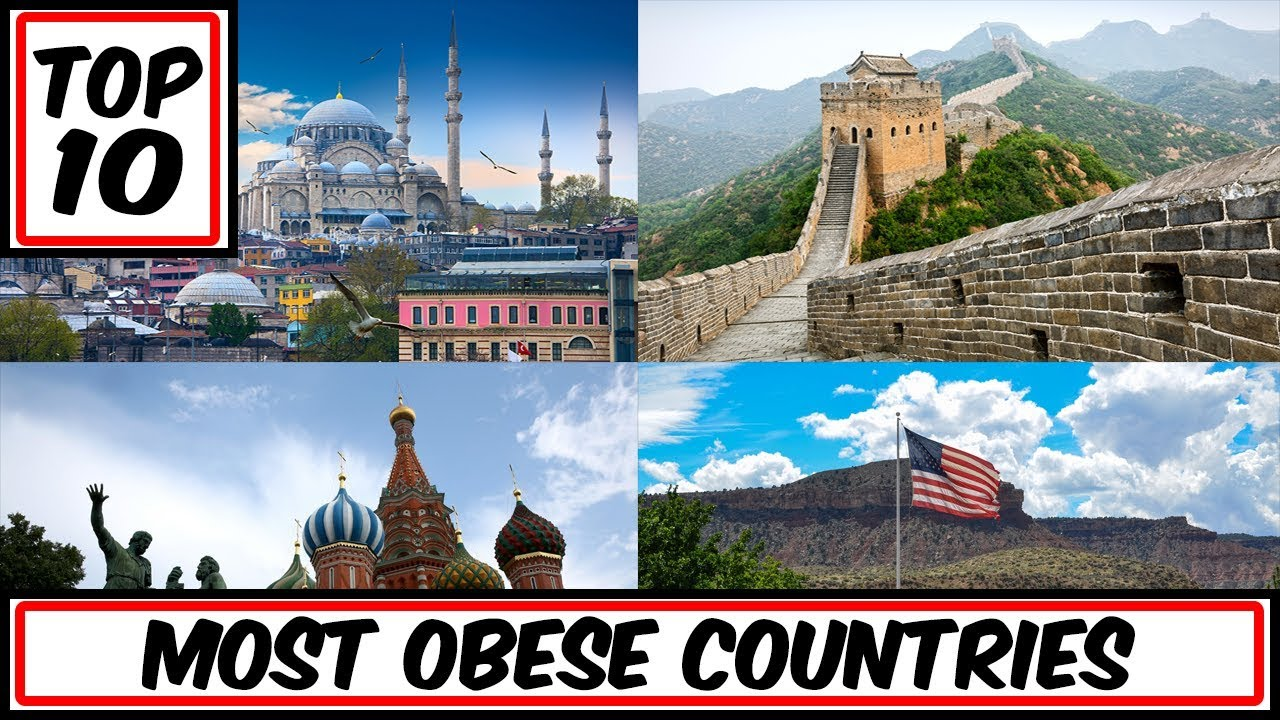 top 10 most obese countries in the world