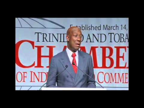 PM Dr. Rowley's address to the T&T Chamber of Industry & Commerce (13th January 2016)