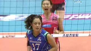 2009 KOREA-JAPAN TOP-MATCH volleyball HeungKuk X Hisamitsu 3SET [1/3]