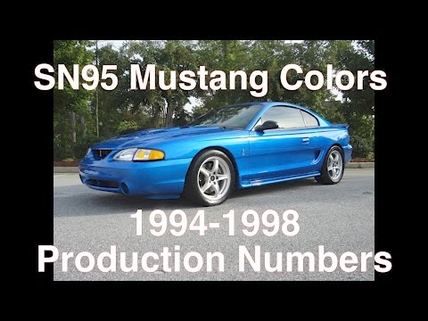 1994-1998 Mustang Colors & Production Numbers - YouTube