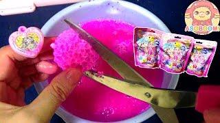 【Pretty Cure】Cutting Bath Bomb!Cute toy inside❤️HUGっと!プリキュア❤️ASOBOOM!