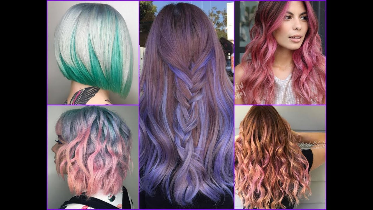 trendy two tone hair color styles