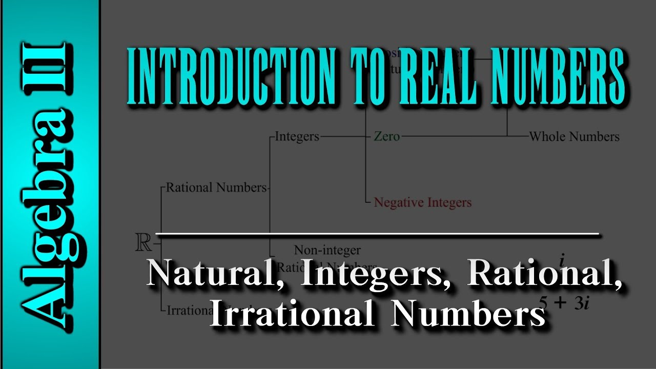 Algebra II: Introduction to Real Numbers | Natural, Integers, Rational, Irrational numbers.