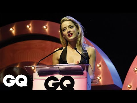 Amber Heard Accepts GQ Award On Behalf Of Her Dogs