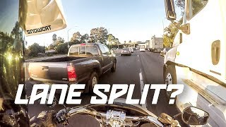 Can you Lane Split a Harley-Davidson? (2018 Sport Glide)