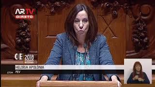 Heloísa Apolónia - OE/2018 - encerramento e votação final global