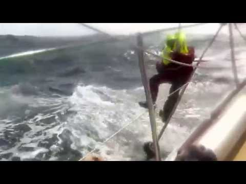 Derry~Londonderry~Doire successfully recovers man overboard during Clipper Race
