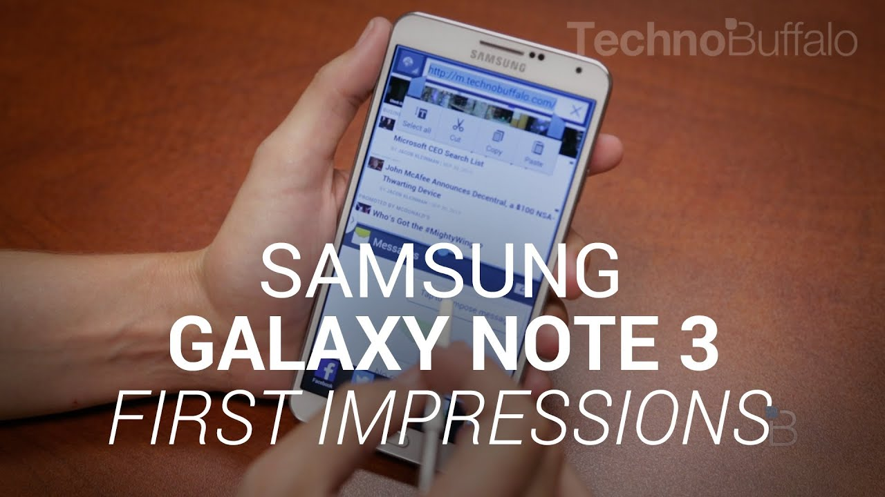 Galaxy Note 3 First Impressions