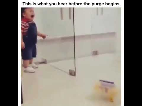 KID MAKES ALARM SOUND FROM THE PURGE!!!!!!