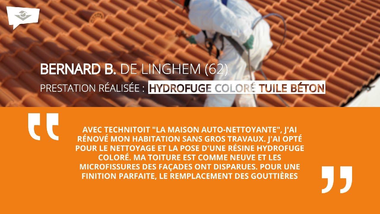 Maison Des Travaux Avis avis clients - bernard b. de linghem (62) - hydrofuge colorÉ tuile bÉton -  bethune
