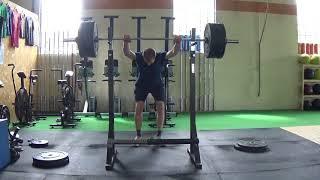 High Bar Squat 3 Rep Set Set 3 of 4